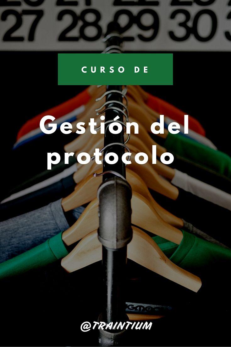 Curso de gestión del protocolo #aprendecontraintium #traintium #cursosonline