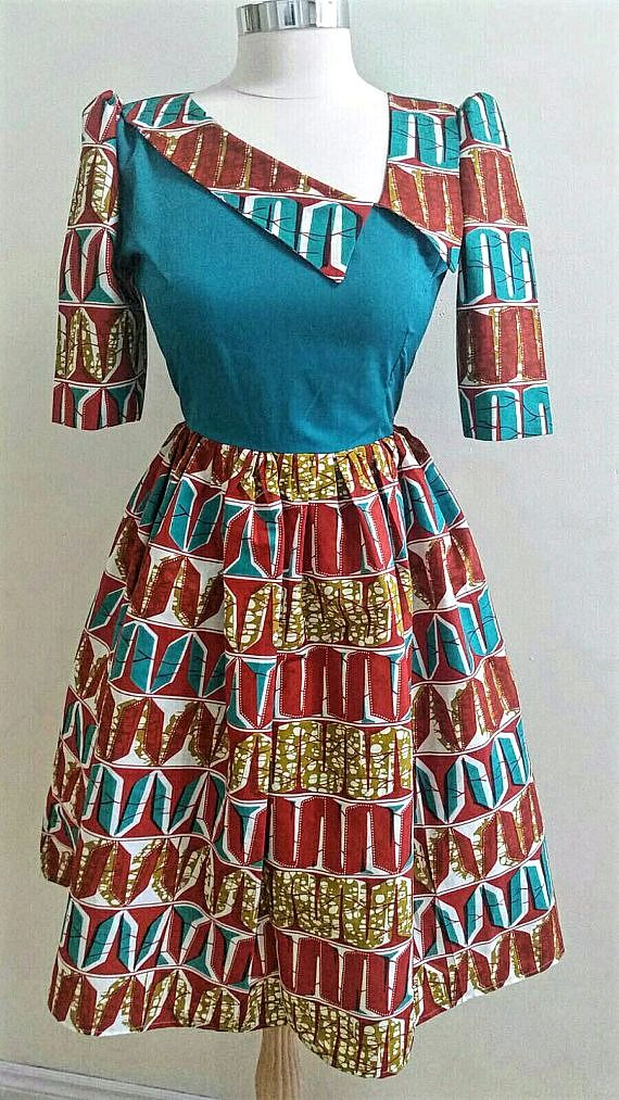African print Dress Ankara Dress African clothing Ankara ...
