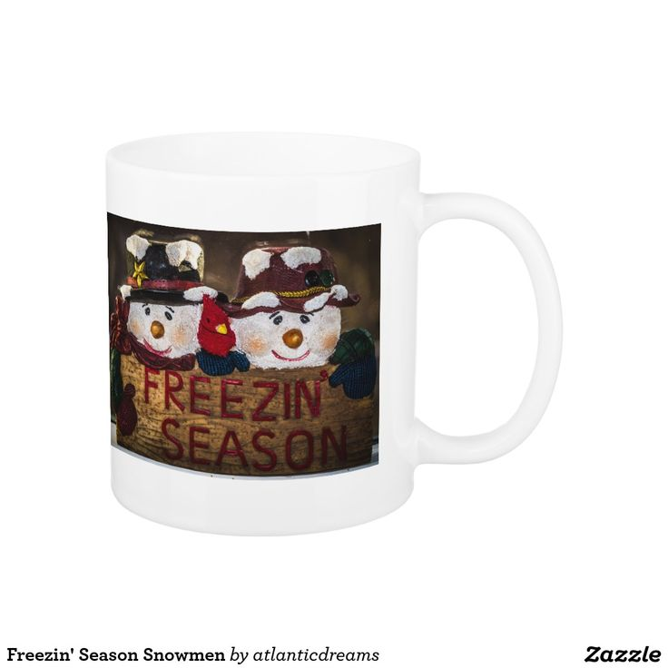 Freezin' Season Snowmen Classic White Coffee Mug