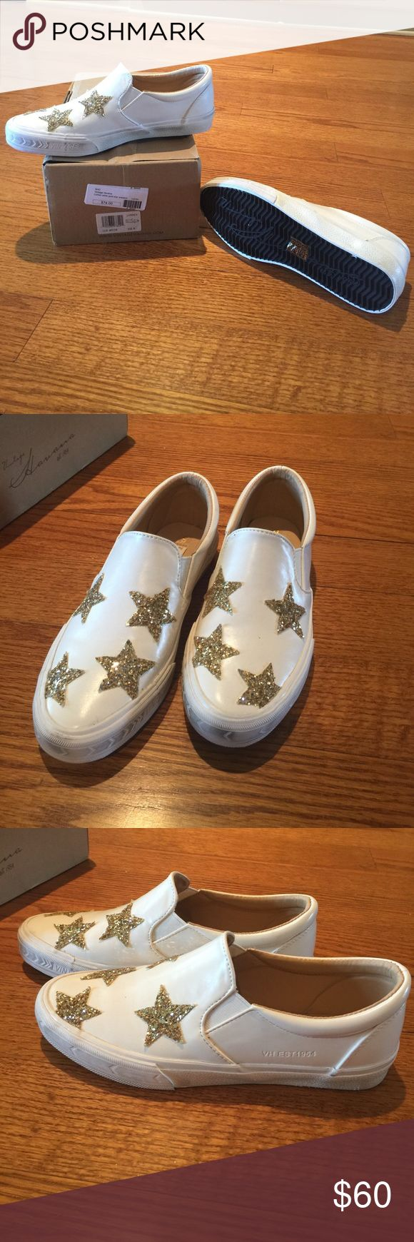 Vintage Havana Star Slip on Sneaker Last chance for these cuties!  If they don't sell this time I'm putting them back in my rotation😉Truth!  These are NOT dirty on the front of shoes, I bought them like that!  Happy Poshing⭐️⭐️⭐️ Vintage Havana Shoes