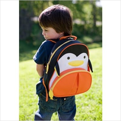 Penguin backpack! Love the fish zipper pull!