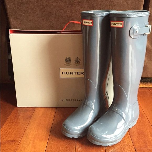 New Hunter boots New Hunter boots size 5 graphite grey Hunter Boots Shoes Winter & Rain Boots