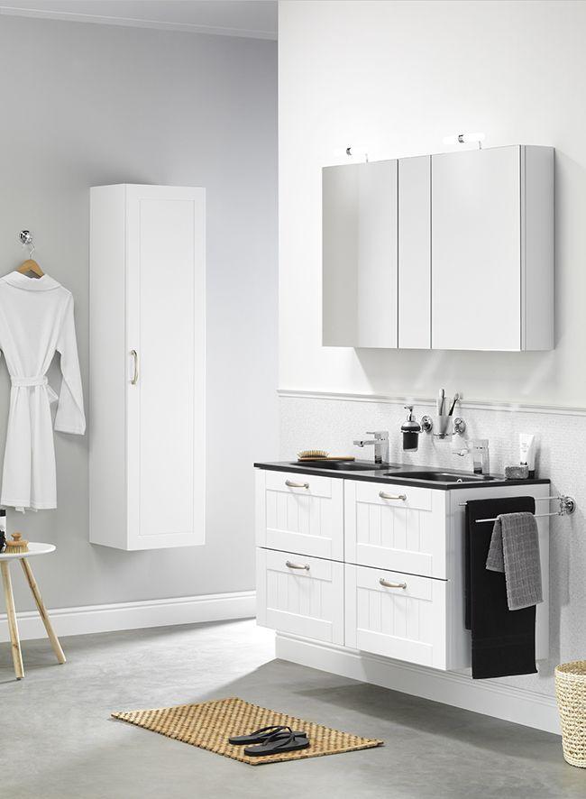 Cottage wastafelonderkast kolomkast kleur wit cottage badmeubelen pinterest cottages - Kleur modern toilet ...