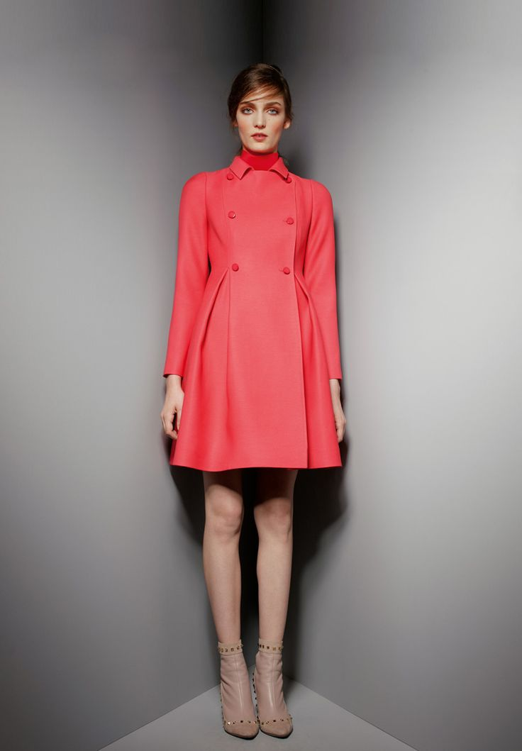 Ready To Wear | Valentino #fashion #inspiration red coat