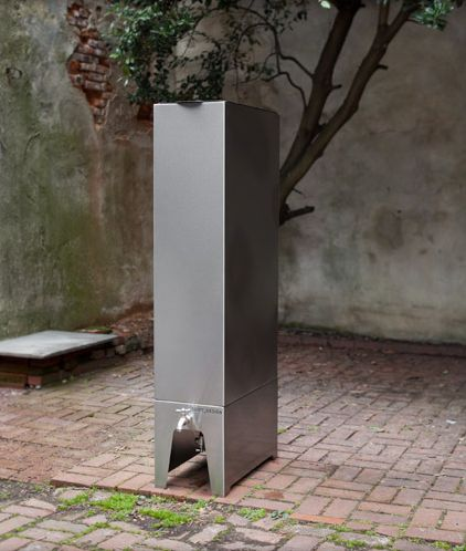 Contemporary Rain Barrel. A smarter looking way to collect rainwater