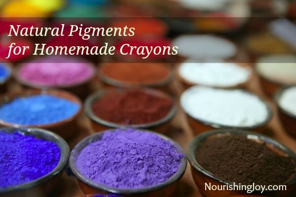 Natural pigments for homemade crayons and DIY cosmetics | NourishingJoy.com