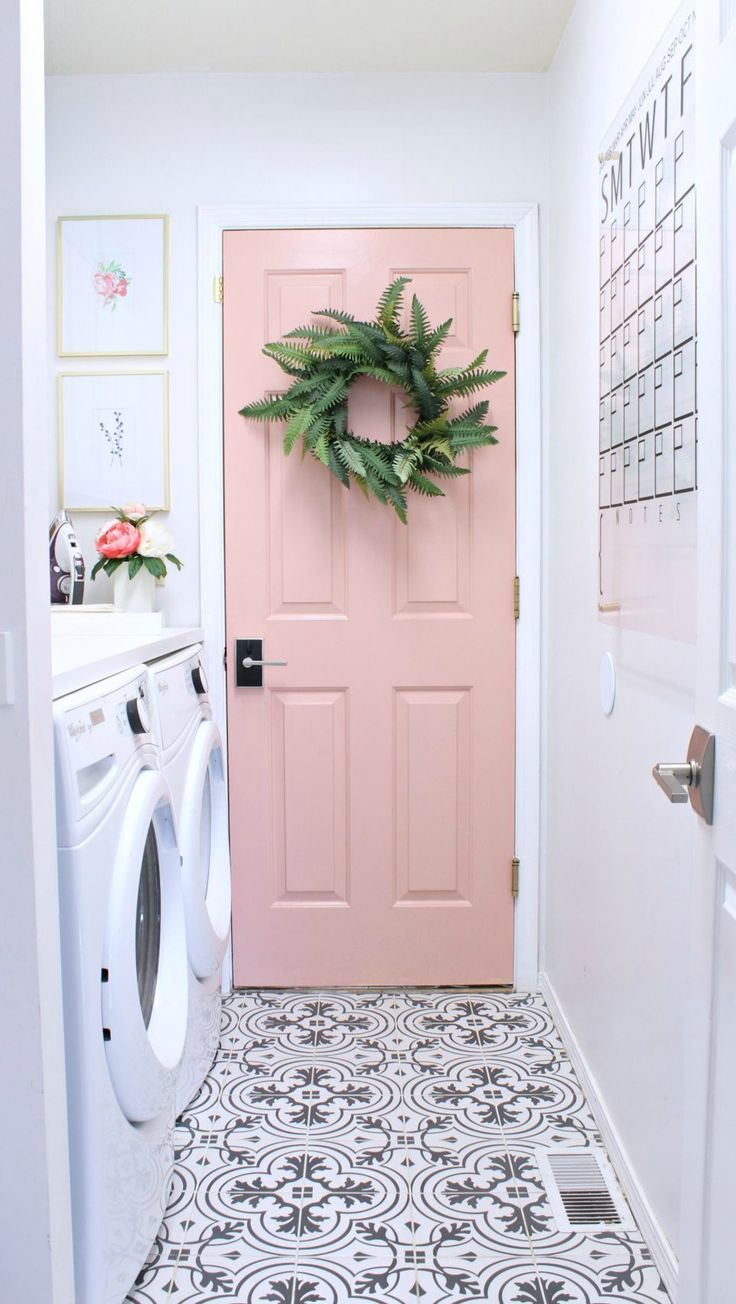 Now this is a laundry room you'll want to spend time in! Check out how a coat of fresh paint, trendy accessories, and the right storage and organization can make over this utility room in no time.