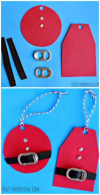 http://www.craftymorning.com/diy-santa-gift-tags-using-soda-can-tabs/