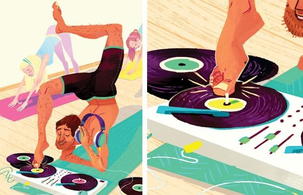 Spin it Like Shiva: When did yoga class get so noisy?