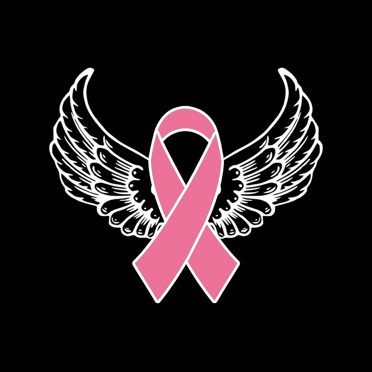 Angel S Wings Cancer Awareness Angel Wings Pink Ribbon
