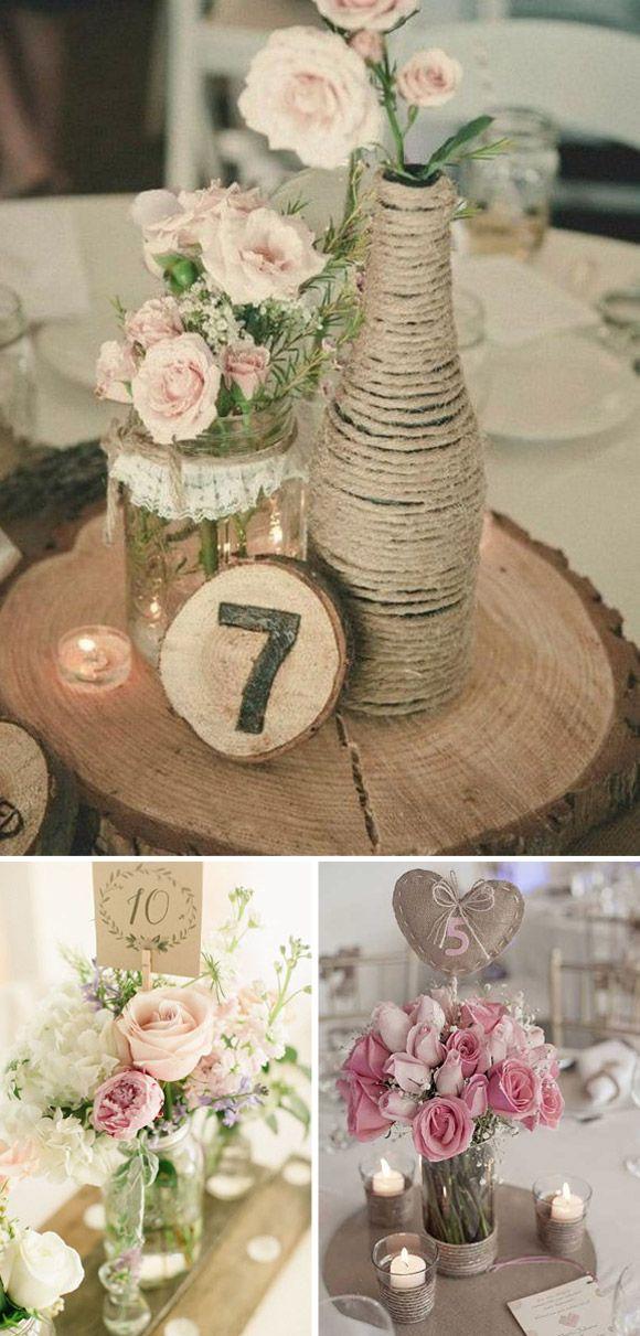 Números de mesa para boda – Ideas e inspiración