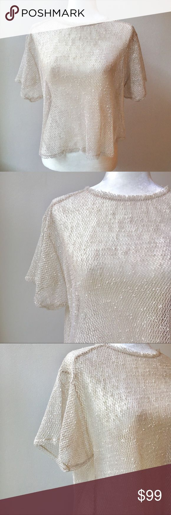 ZARA Open Lace Crochet Short Sleeve Blouse ZARA Open Lace Crochet Short Sleeve Blouse Sz Medium. Cream color, crochet texture. Absolutely stunning! ✨Buy Instantly or make an offer!✨ Tops Blouses