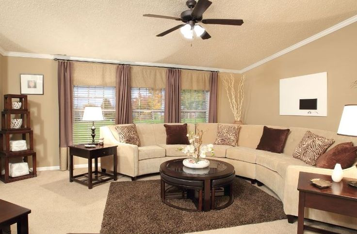 Pin by cheryl kibbe on manufactured homes remodeled in - How to decorate a mobile home living room ...