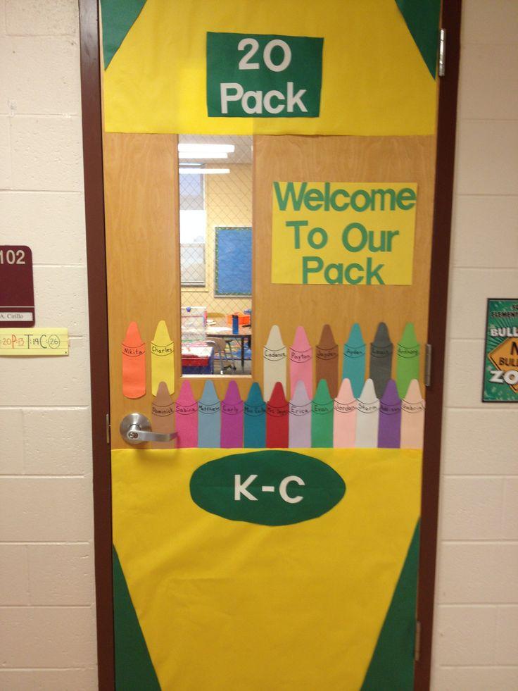 Kindergarten classroom door!--- I could totally do this better!