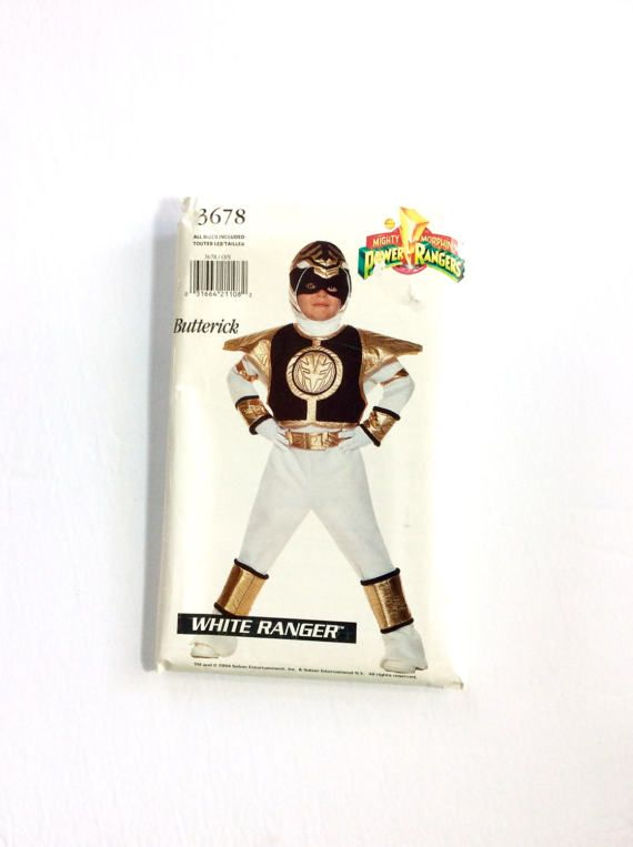 Butterick 3678 Power Ranger Costume Pattern White by DonnaDesigned