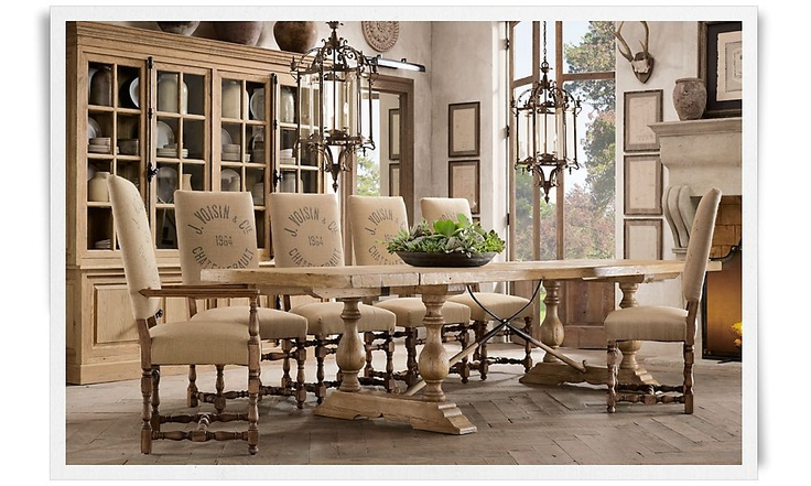 Restoration Hardware Dining Room : Love would want to entertain every night