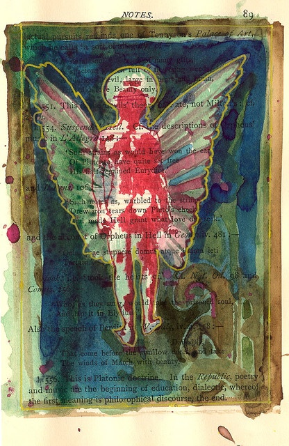 I love the thoughtfulness this picture evokes... great idea for altered book.