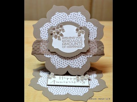 Shaped Easel Card - JanB UK Stampin' Up! Demonstrator Independent - YouTube