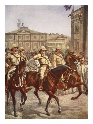 Siege of Kimberley,1899-1900.  Boers quickly besieged the diamond mining town of Kimberley at the start of the Second Boer War.  The garrison, under the command of Lt. Colonel Robert Kekewich, was not initially prepared for a prolonged siege, but  managed an energetic defense against larger Boer numbers.  https://grahamwatkinsauthor.wordpress.com/2015/03/13/a-white-mans-war-coming-soon/