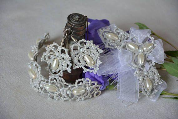 Set of jewelry Violetta Wedding Set Earrings Wedding earrings