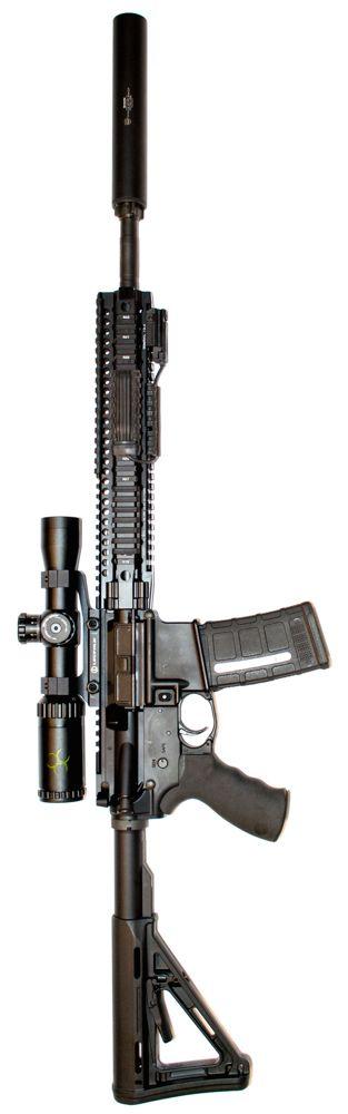 Daniel Defense DDM4v5 300 AAC Blackout with Weaver Kaspa and SilencerCo Octane