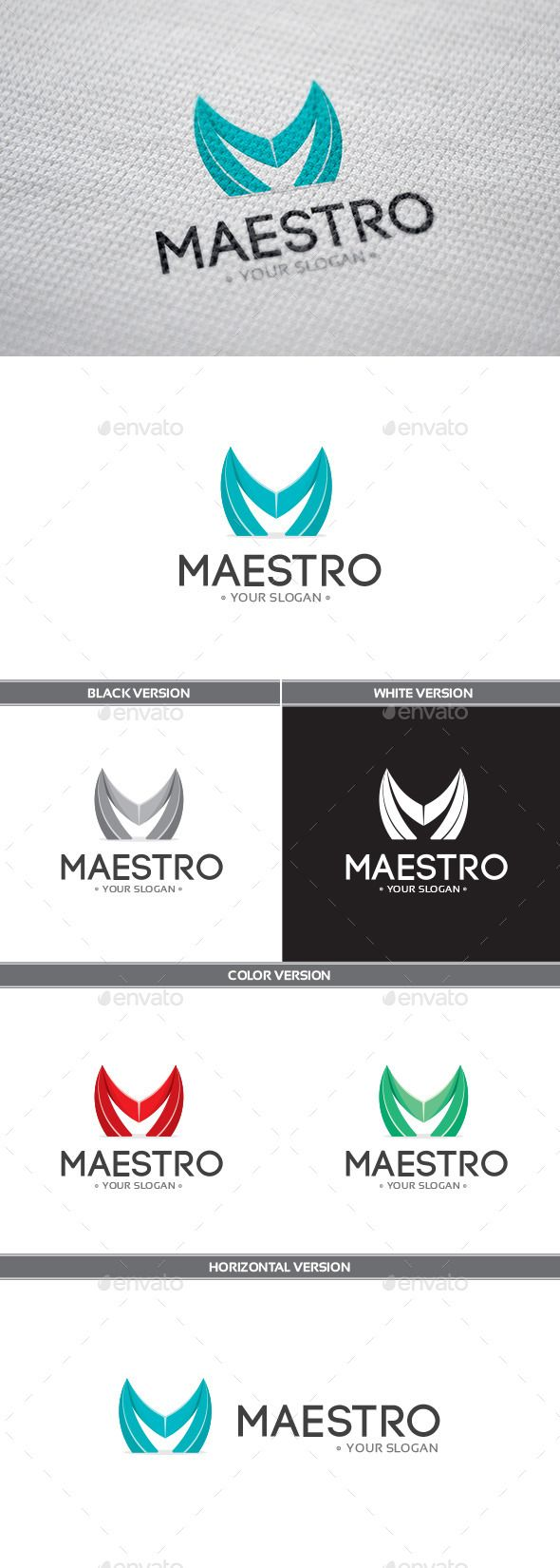 Maestro Logo — Vector EPS #green #maestro • Available here → https://graphicriver.net/item/maestro-logo/9137932?ref=pxcr