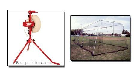 machine batting baseline pitching machine backyard affordable pitching
