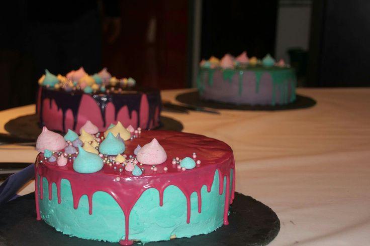 dåbskager, drip cakes