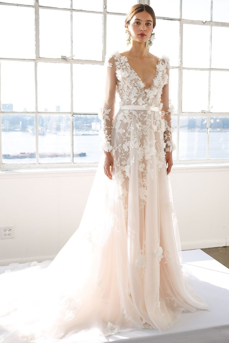 Get in the mood for the new wedding season with the latest ethereal looks from Marchesa bridal. Have a look at the whole collection here.