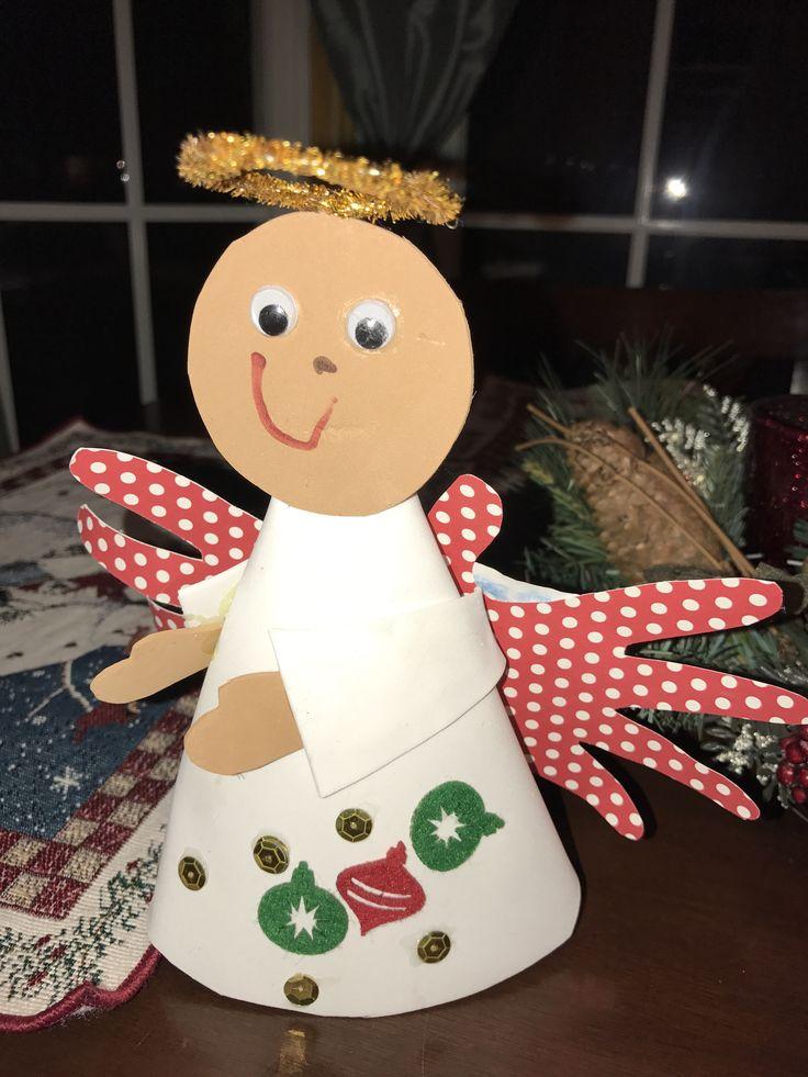 Sunday School Christmas Craft Ideas Part - 29: Handprint Angel Craft #AngelCraft #HandprintCraft #ToddlerCraft  #ChildrenChurch #SundaySchool #GloryToGodInTheHighest