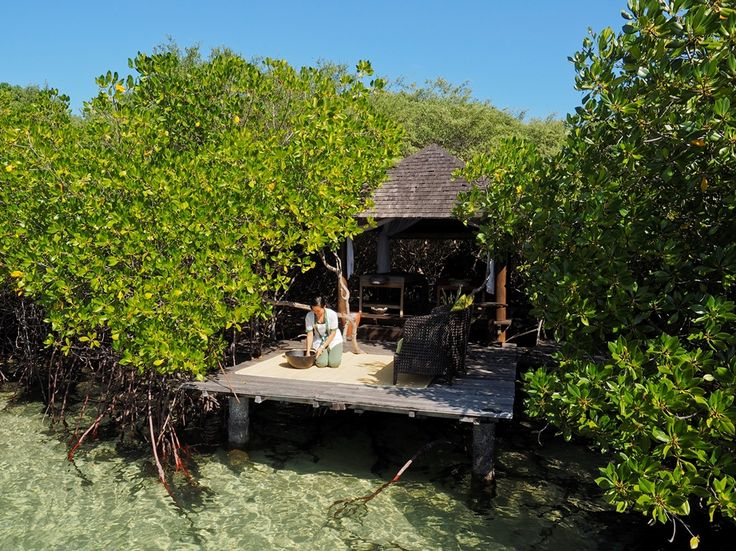 The Mangrove Spa is simple and peaceful.  A series of three bales (or open-air gazebos) stand discreetly within the mangroves on Sentigi Beach overlooking the ocean.  The Mangrove Spa provides a true and natural range of traditional massages, using natural products from the area and promoting the traditional art of healing.