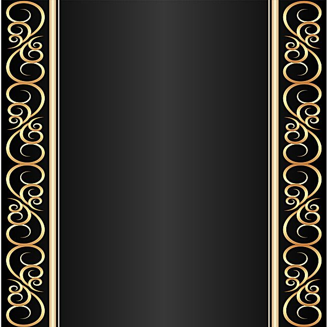 Gold Texture Border Black Background Material in 2020