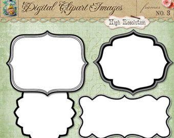 Set of Journal Tags & Label Frames Art Outlines by ArtOutlines