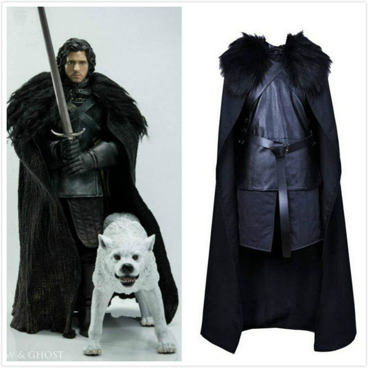 halloween game of thrones jon snow cosplay costume fancy party men s outfit new