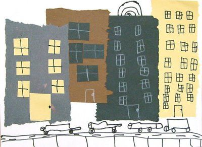 Art Projects for Kids: Cut and Tear Cityscape Collage