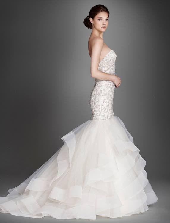 Lazaro Wedding Dresses 2015 Collection Part II - MODwedding #vestidodenovia   #trajesdenovio   vestidos de novia para gorditas   vestidos de novia cortos http://amzn.to/29aGZWo