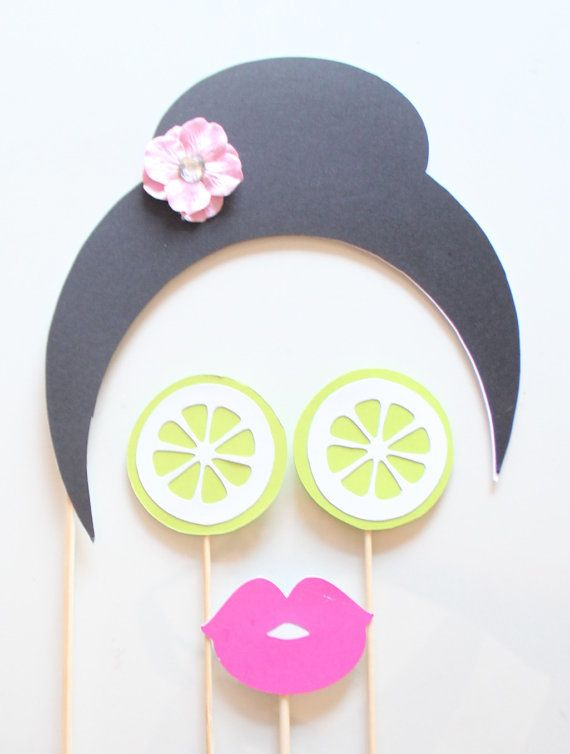 17pc Spa Day Photo Booth Props/Spa Day/Spa by ThePartyGirlStudio