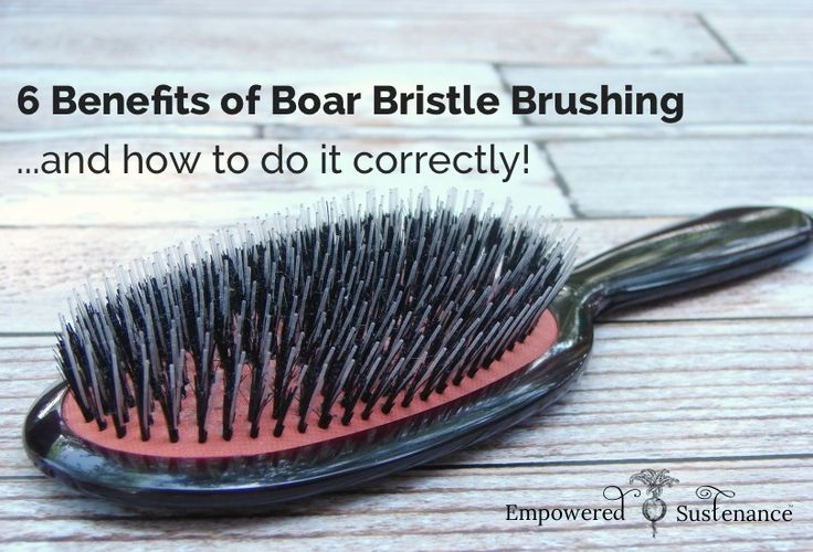 Boar bristle brush benefits for hair and how to do it correctly- helps condition hair, reduce the need for washing or for styling products AND reduces frizz.