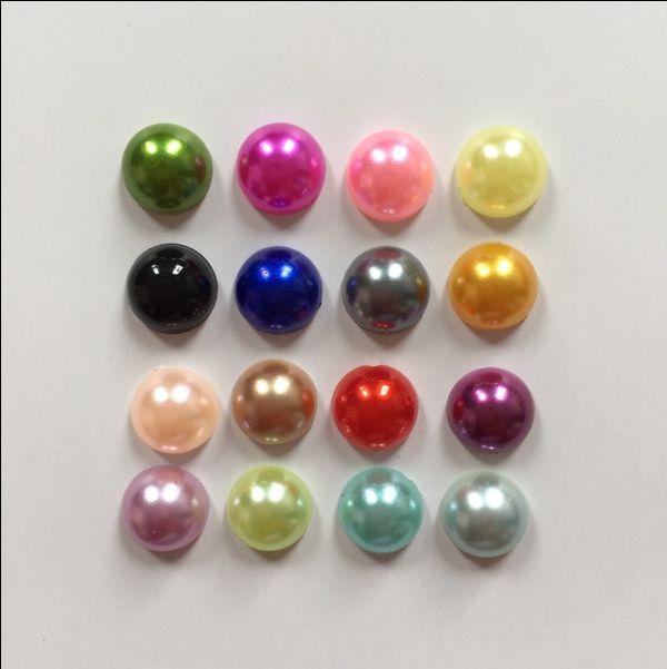Bead Caps Wholesaler Ifso Sells Wholesale Mixed Half Plastic Pearl Bead Flat Back Scrapbook /8mm Flatback Beads Diy Wedding Decoration  B02a | Dhgate.Com