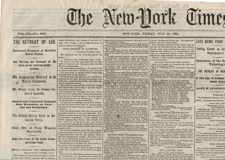 newspaper retracts 1863 article