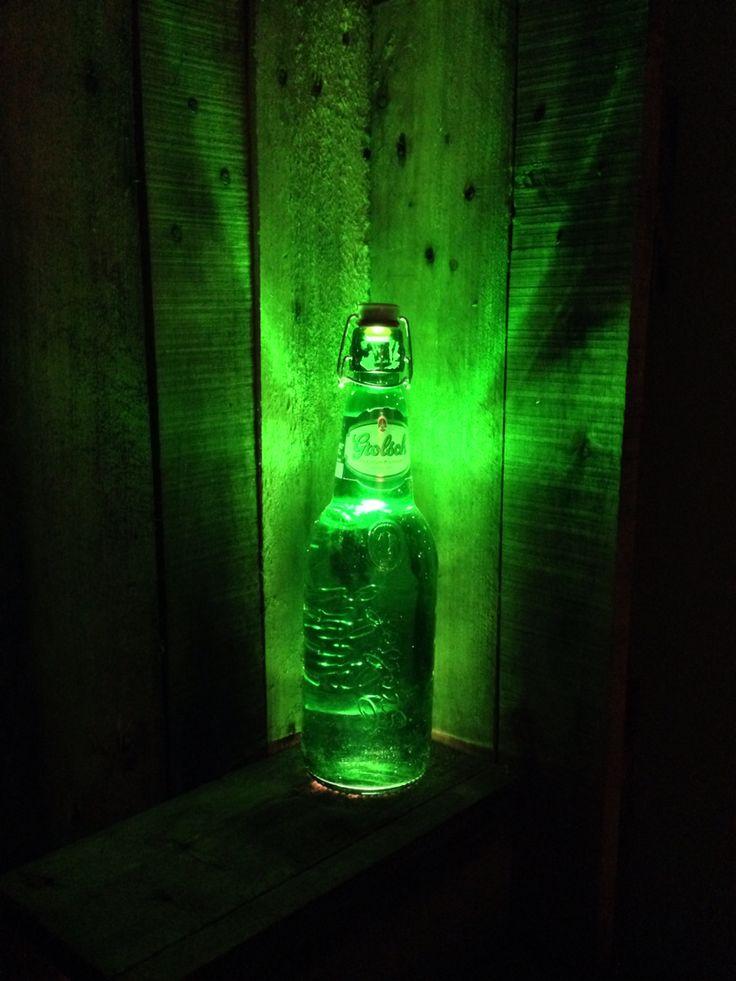 Nice 1,5 liter Grolsch lamp hand made