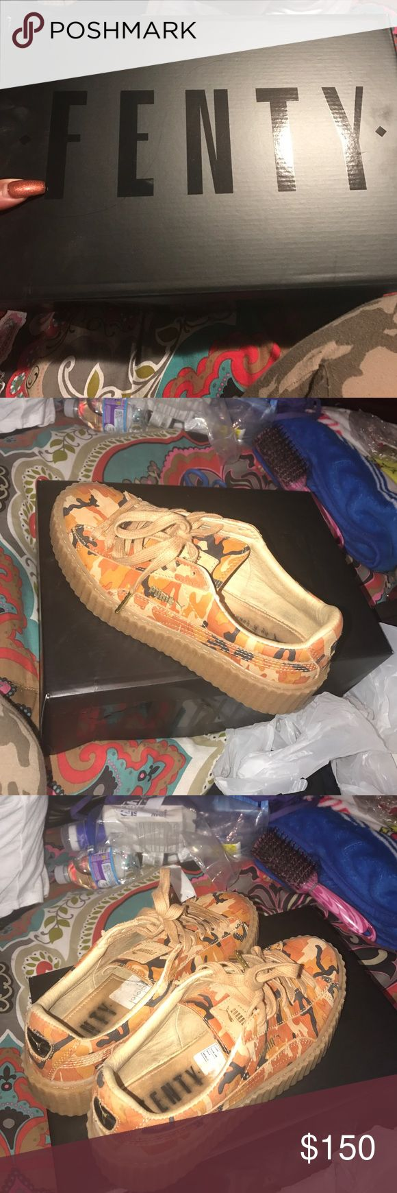Rihanna Puma Suede Creepers Camo One worn a few times extra laces included size 7.5 hate to let them go but really need the cash so make some offers deadstock Puma Shoes Sneakers
