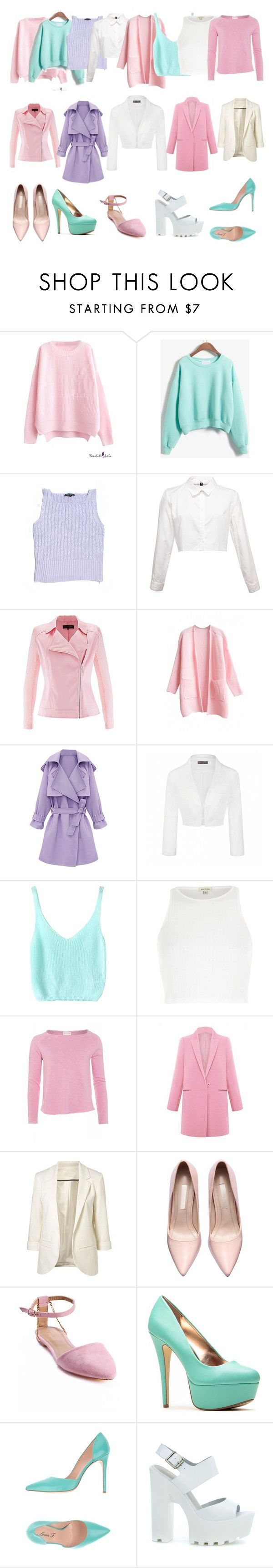 """""""Scream Queens Base Wardrobe"""" by pollypotter ❤ liked on Polyvore featuring Adrienne Vittadini, Ally Fashion, River Island, American Vintage, Sergio Bari, Anna F., Windsor Smith, women's clothing, women and female"""