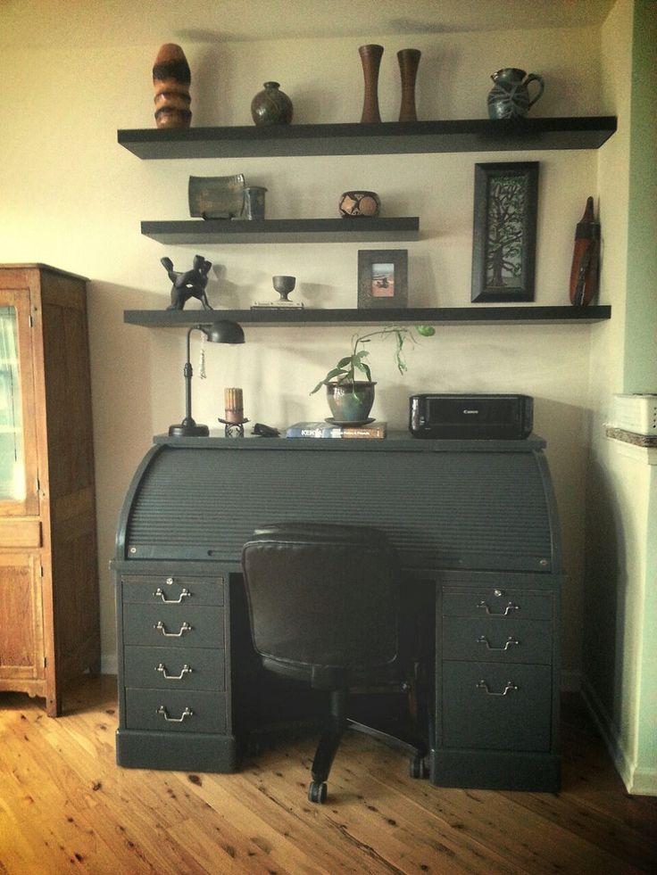 My New Roll Top Desk!!! Www.stillgrowing.net #chalkpaint