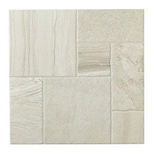 Wickes Floor Tiles : Wickes Modular Stone Effect White Porcelain Floor Tile 436x436mm