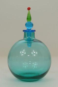 *V. Nason & C. Murano Italy Glas Parfum-Flakon Glass Perfume Bottle