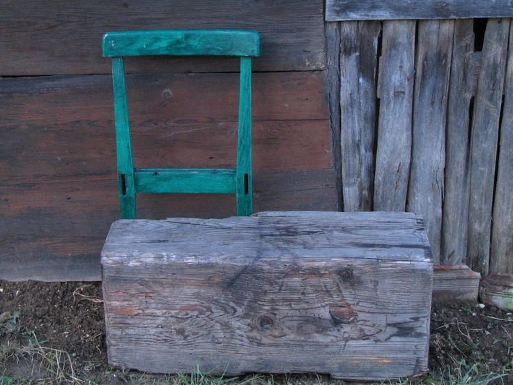 Recycling bench.