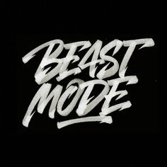 Beast mode engage! Type by @azam.r15 - #typegang - free fonts at typegang.com | typegang.com #typegang #typography