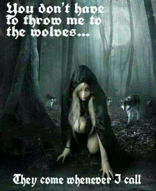 Throw me to the wolves http://morteque.deviantart.com/art/Awaiting-the-Night-122681036