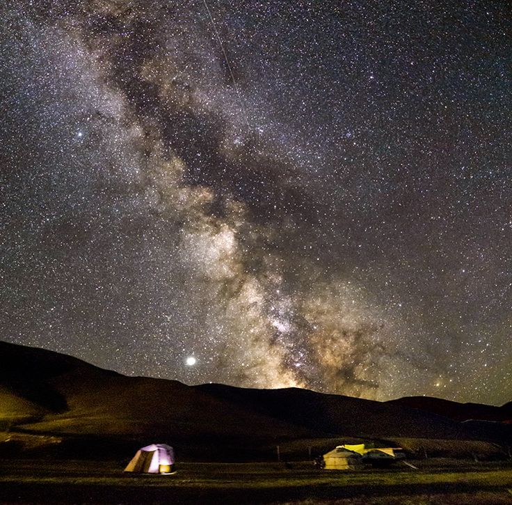Voie lactée en Mongolie
